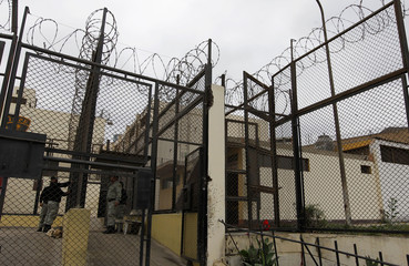 A general view of Castro-Castro prison before their own Copa America soccer tournament at Castro-Castro prison in Lima