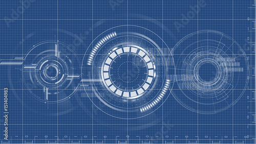 Technological blueprint technical drawing background vector stock technological blueprint technical drawing background vector malvernweather Gallery