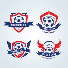 Football logo, soccer logo collection.
