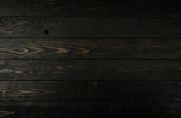 Black dark wooden background texture