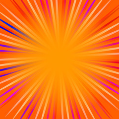 Orange pop art