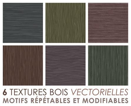 Textures bois - motif vectoriel - arrière-plan