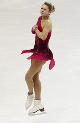 Makarova of Russia performs during women's free skating competition at European Figure Skating Championships in Bern
