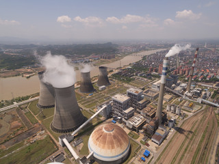 China's thermal power station. Aerial