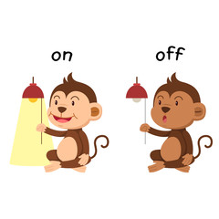 Opposite words on and off vector