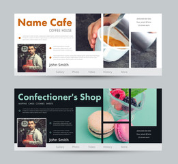 template banner for advertising a coffee house, a pastry shop, a bakery