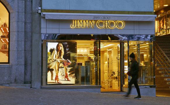 A store of shoe designer Jimmy Choo is seen in St. Moritz