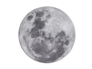 Super full moon on white background