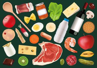 alimentation - aliment - nutrition - diététique - nourriture - régime - fond