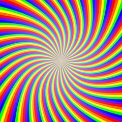 Poster de jardin Psychedelique Rainbow Twist Illusion Abstract Background