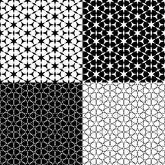 vector set arabic Background with seamless pattern in islamic style
