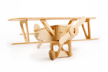 Wooden airplane model