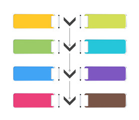 Label color arrow concept. vector illustration.