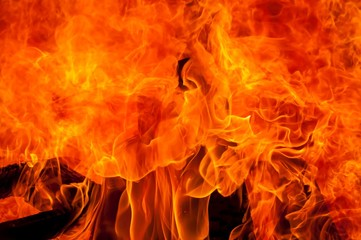 Blazes of fire, abstract arson concept stock image.