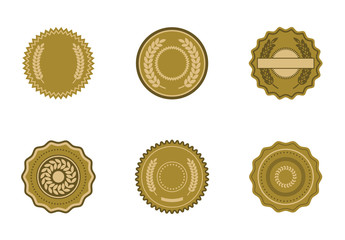 Vector icon set of badges