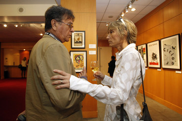 """Ureta and Torres talk at a special screening of """"Strawberry and Chocolate"""" at the Academy of Motion Picture Arts and Sciences in Beverly Hills"""