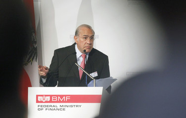 OECD Secretary-General Curria makes a speech at a conference in Vienna