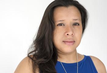 Asian Woman Casual Studio Portrait