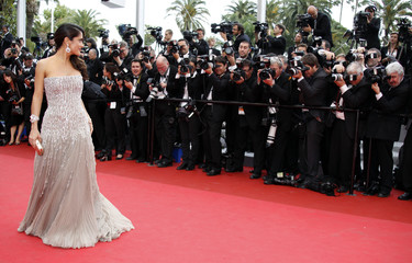Actress Hayek arrives on the red carpet for the opening ceremony of the 64th Cannes Film Festival in Cannes May 11, 2011.