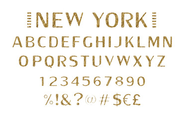 Vintage Label Font with decorative shadow.