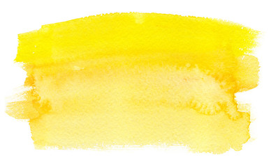 Sunny yellow gradient painted in watercolor on clean white background Wall mural