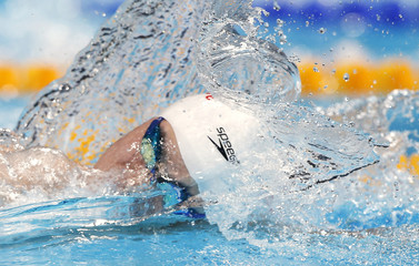 China's Sun Yang competes in the men's 400m freestyle final during the World Swimming Championships at the Sant Jordi arena in Barcelona