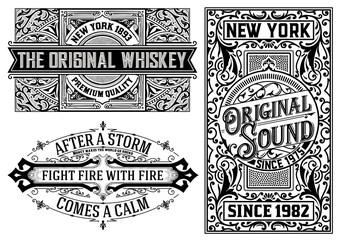 Western card templates