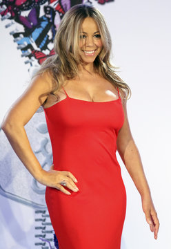 Mariah Carey poses during a press conference announcing that she will be the new brand ambassador for the weight-loss program Jenny in New York