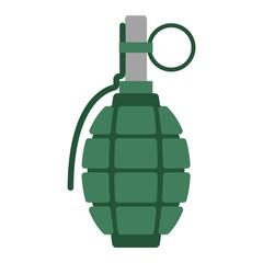 Hand grenade bomb explosion weapons vector illustration