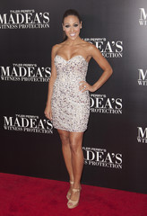 "TV personality Melissa Gorga arrives for the New York premiere of Tyler Perry's ""Madea's Witness Protection"" in New York"