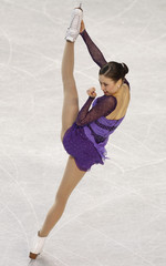Laura Lepisto of Finland performs during the ladies short program at the European Figure Skating Championships in Tallinn