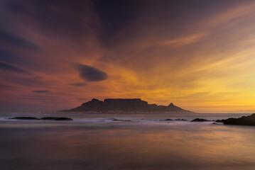 Table Mountain beach sunset