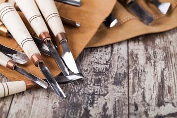 wood carving tools Wall mural