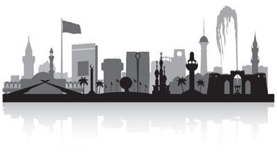 Jeddah Saudi Arabia city skyline silhouette