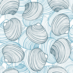 vector hand drawn shell background