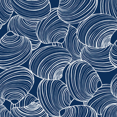 vector dark background with seashells