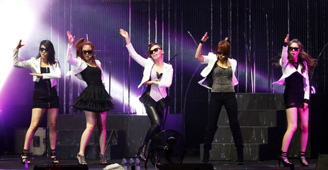 Members of South Korean girl group Wonder Girls perform during the MTV World Stage Live in Malaysia 2010 concert in Petaling Jaya