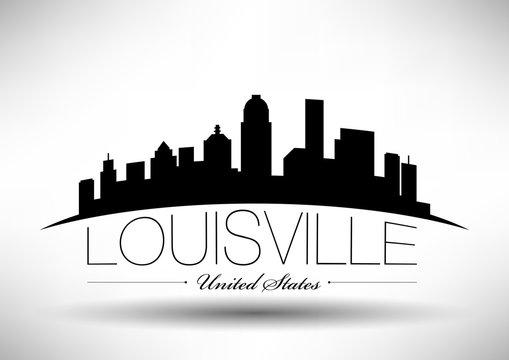 Vector Graphic Design of Louisville City Skyline