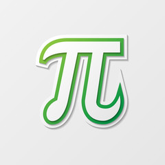 Symbol Pi with shadow