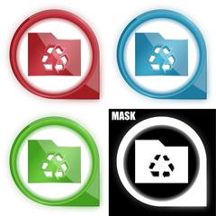 ikona w okręgu ze strzałką i blaskiem zestaw