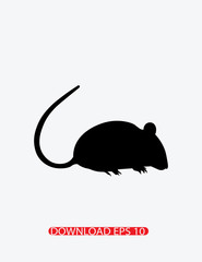 Mouse animal icon, Vector