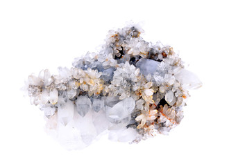mineral sample of quartz crystal with iron inclusions