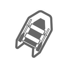Inflatable boat outline icon. Summer. Vacation