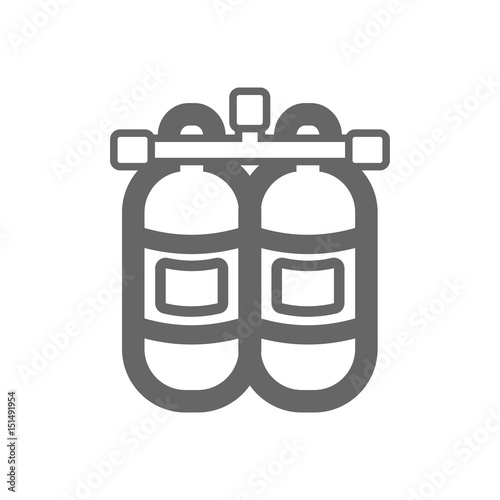 Oxygen Tank Outline Icon Summer Vacation Stock Image And Royalty