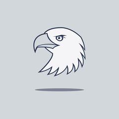 simple eagle logo vector