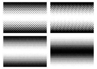 Halftone in different variations in vector_02