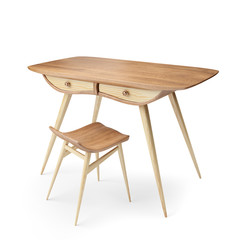 table with drawers and stool