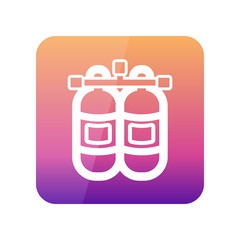 Oxygen tank outline icon. Summer. Vacation