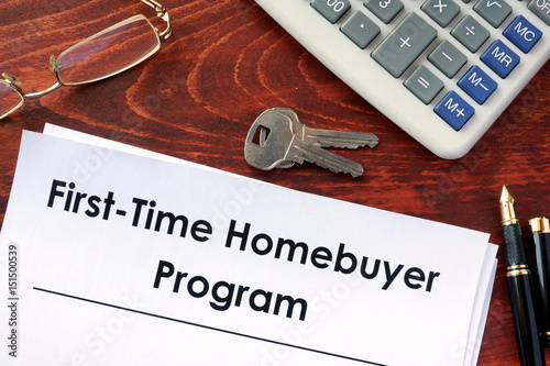 Document with title first time home buyer program for First time home buyers plan