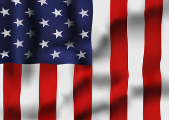 Vector Image of United States Waving Flag